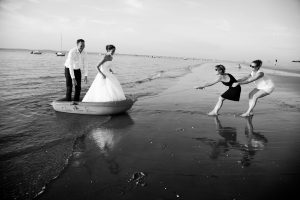 Trash the dress à Arcachon.